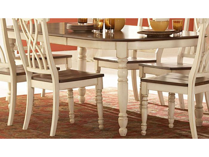 Ohana Wood Dining Table In White