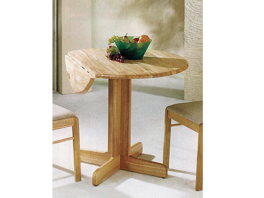 Solid Wood Drop Leaf Table Dining Set