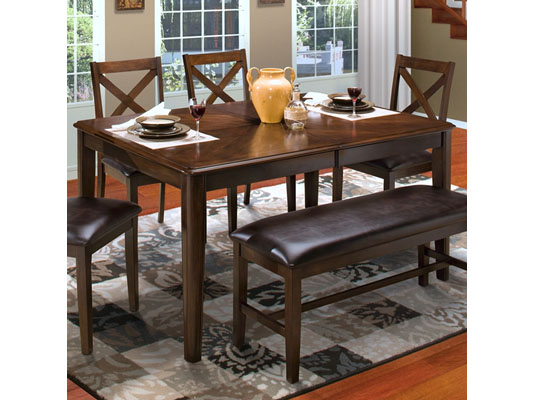 Latitudes Round Corner Dining Table in Chestnut
