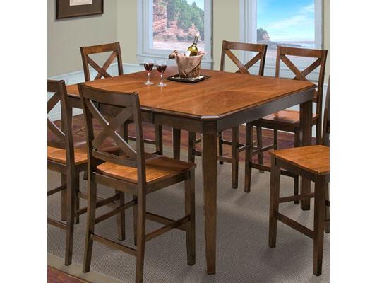 Latitudes Counter Cut Corner Dining Set in Two Tone