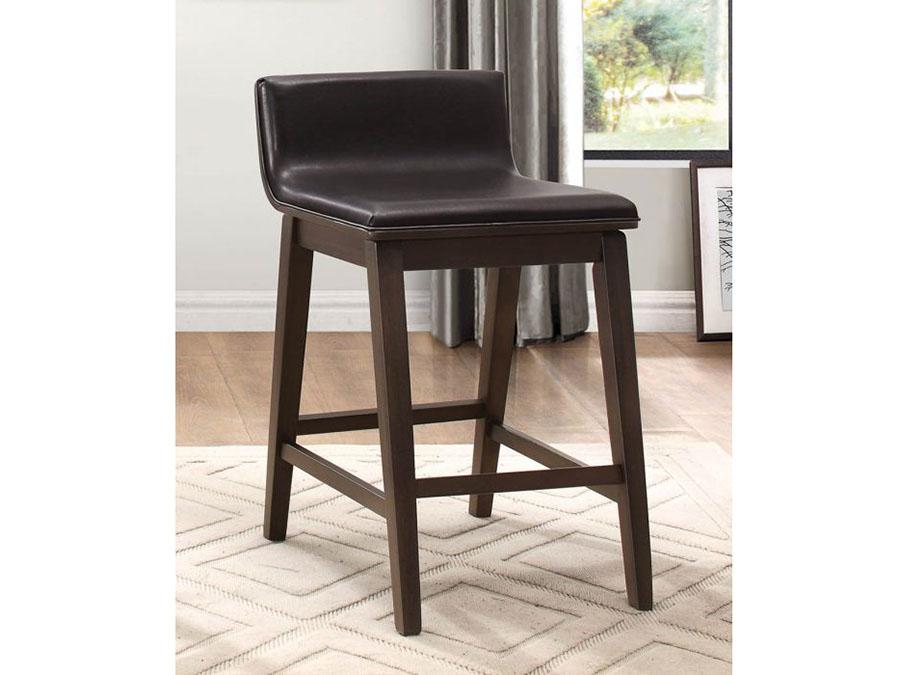 Miraculous Rochelle 2Pcs Counter Height Chair In Dark Brown Bi Cast Inzonedesignstudio Interior Chair Design Inzonedesignstudiocom