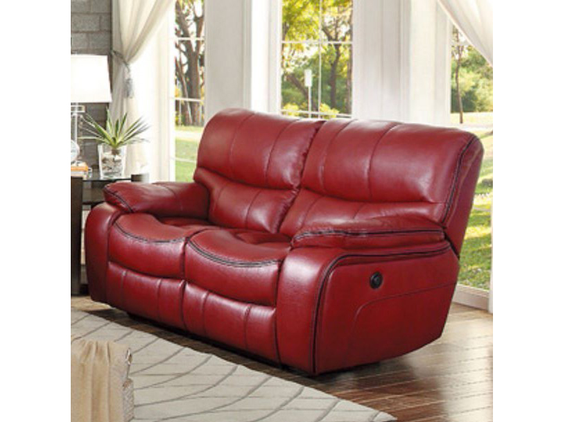 Pecos Reclining Sofa Set in Red