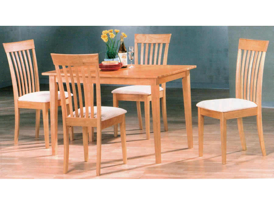 48 Wood Dining Set In Natural
