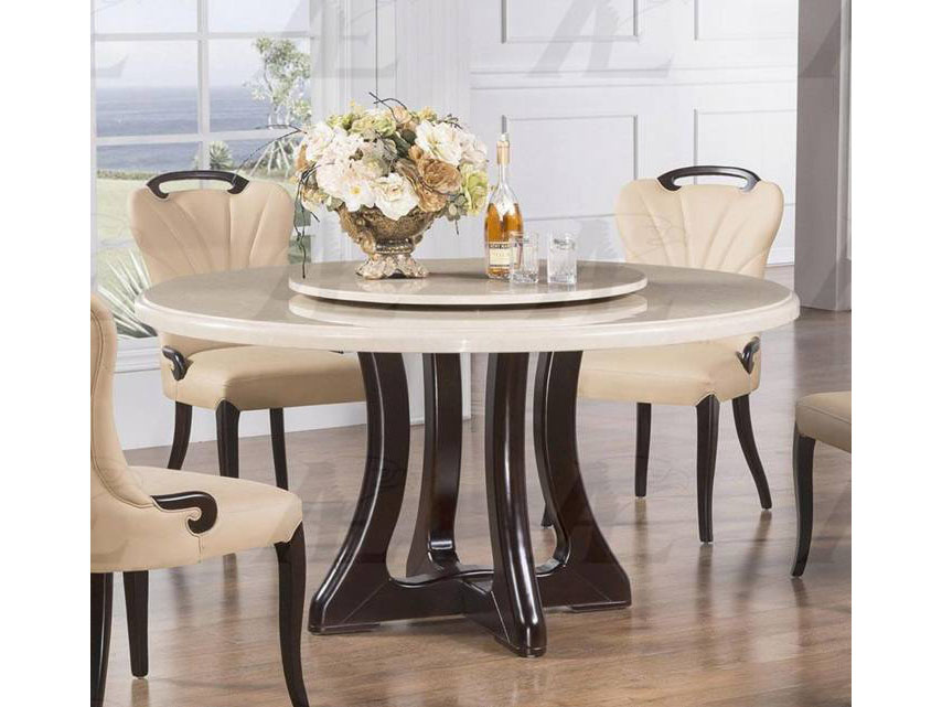 Marble Top Round Dining Table