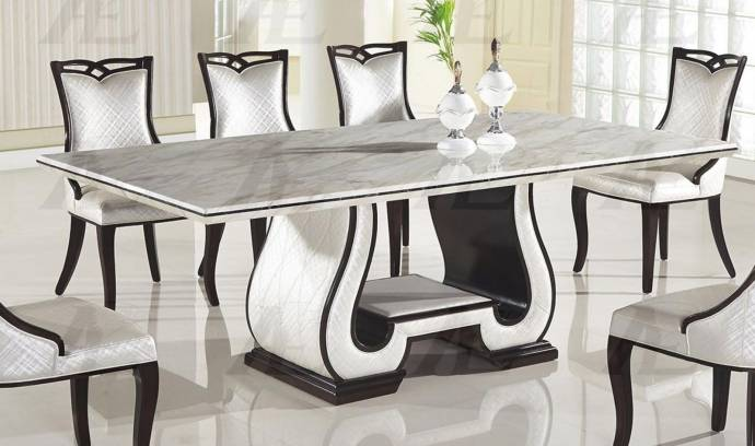 Black And White Marble Top Dining Table