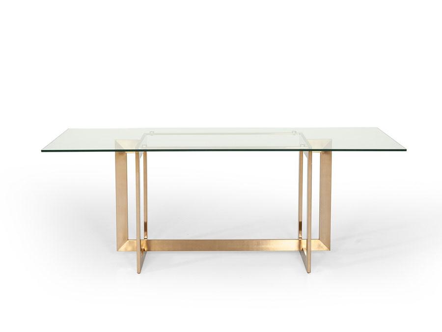 Incredible Glass Brass Dining Table Interior Design Ideas Tzicisoteloinfo