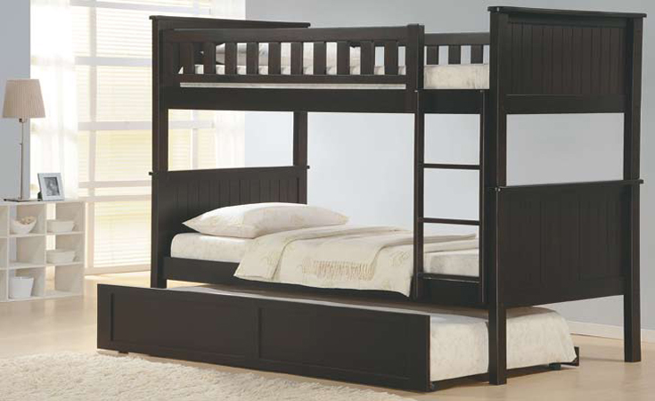 Bunk Bed W Trundle In Dark Espresso