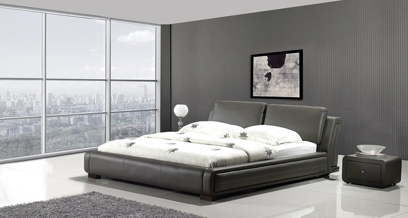 Modern 3Pcs Contemporary Leather Bedroom Set - Shop for Affordable ...