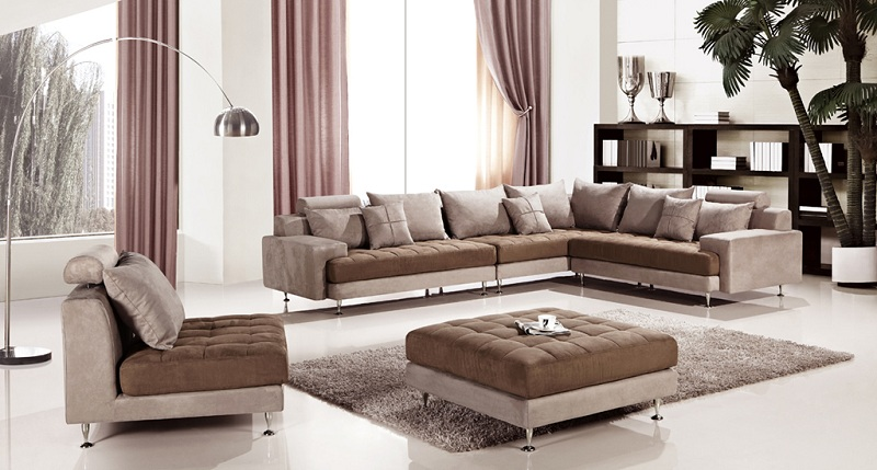 Prime Modern Brown Microfiber Sectional Sofa Gmtry Best Dining Table And Chair Ideas Images Gmtryco