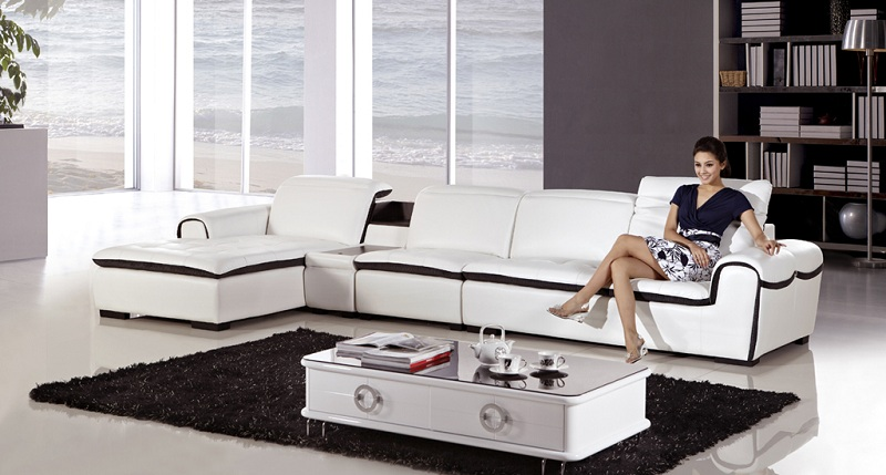 Modern White Faux Leather Sectional Sofa Shop For Affordable Home