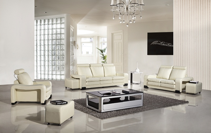 Admirable Ivory Faux Leather Sofa Set Pdpeps Interior Chair Design Pdpepsorg