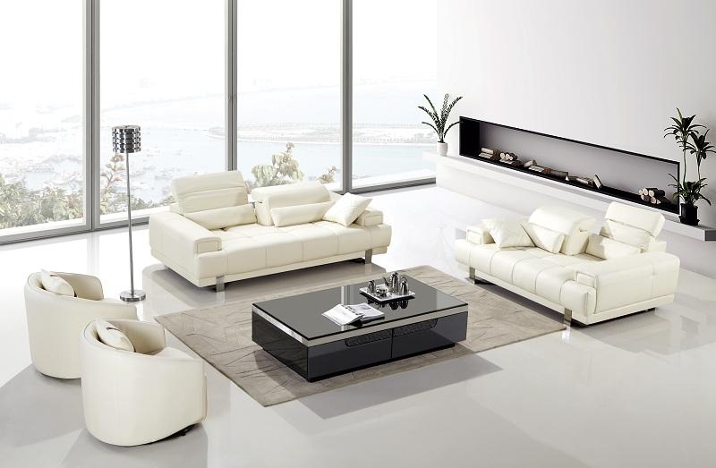 Super Modern 4Pcs Ivory Bonded Leather Sofa Set Uwap Interior Chair Design Uwaporg