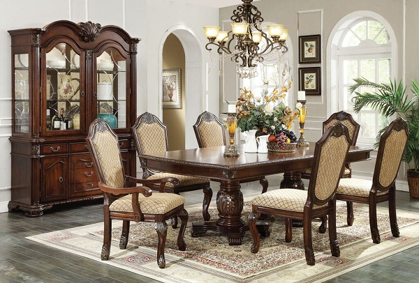 Chateau De Ville Espresso Dining Table Set - Muuduu Furniture ...