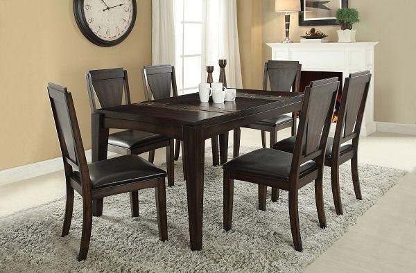 Goldcliff Walnut Dining Table Set Shop for Affordable Home