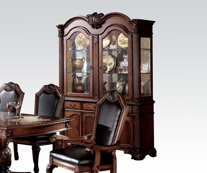 Chateau de ville cherry hutch buffet china cabinet shop for Affordable furniture ville platte la