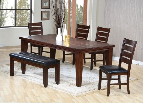 Urbana Cherry Wood Dining Table Set By Acme Furniture