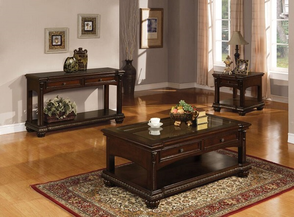 Anondale Cherry Sofa Table With Storage Drawers Shop For