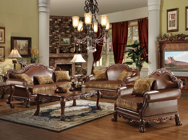 Dresden Brown Sofa Set - Shop for Affordable Home Furniture, Decor ...