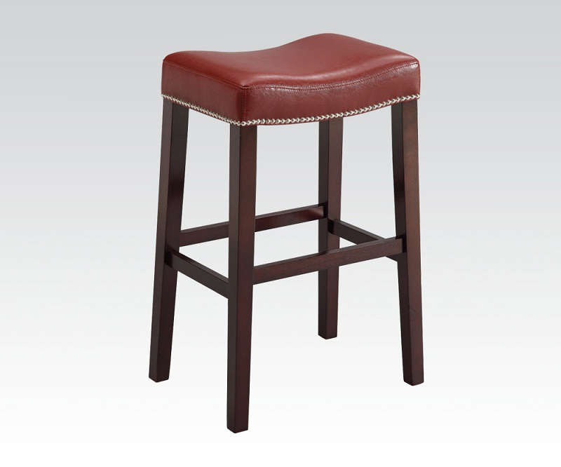 Lewis 2pcs Espresso Red Pu Counter Bar Stool Shop For