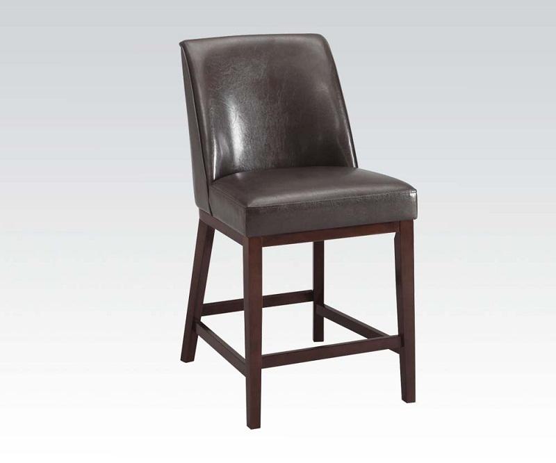2Pcs Valor Espresso Pu Espresso Counter Height Chair