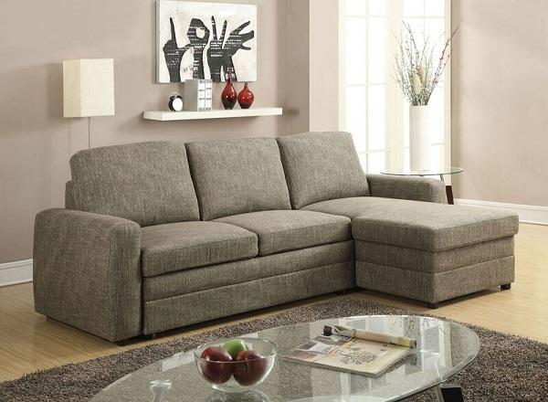 Derwyn Light Brown Storage Sleeper Sectional Sofa Set