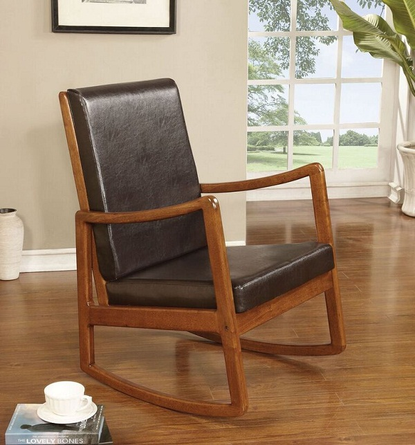 Dark Brown Rocking Chair
