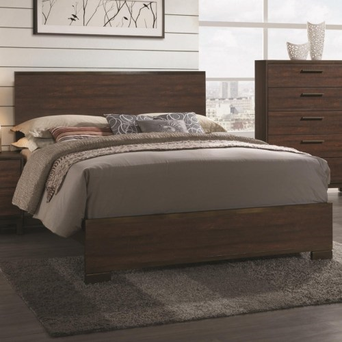 Rustic Tobacco Cal.King Bed