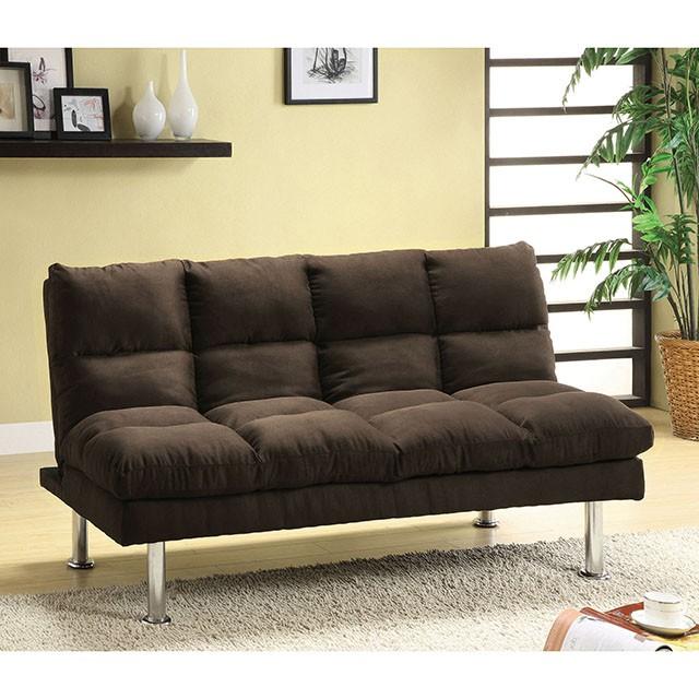 Saratoga Espresso Microfiber Futon Sofa