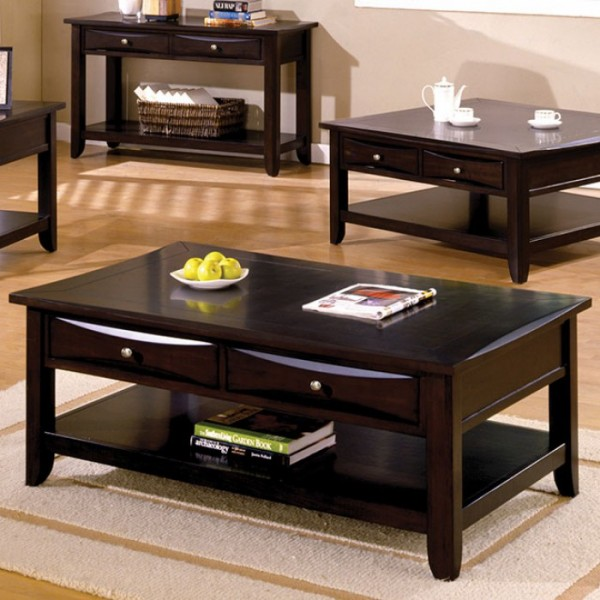 baldwin espresso coffee table - shop for affordable home furniture