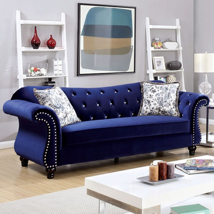 Jolanda Blue Sofa - Shop for Affordable Home Furniture, Decor ...