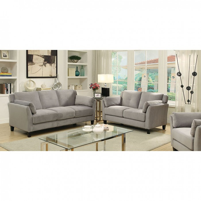 Ysabel Warm Gray Sofa Set