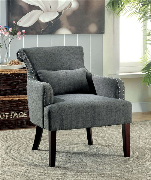 Admirable Agalva Gray Fabric Accent Chair Andrewgaddart Wooden Chair Designs For Living Room Andrewgaddartcom