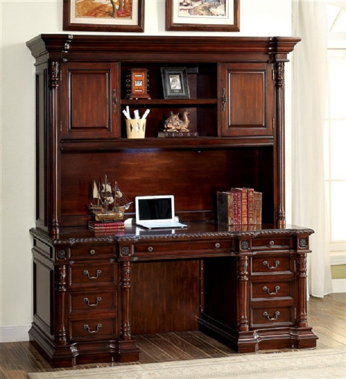 Roosevelttraditional Cherry Finish Office Credenza Desk