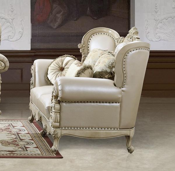 Superieur Cream Bonded Leather Sofa