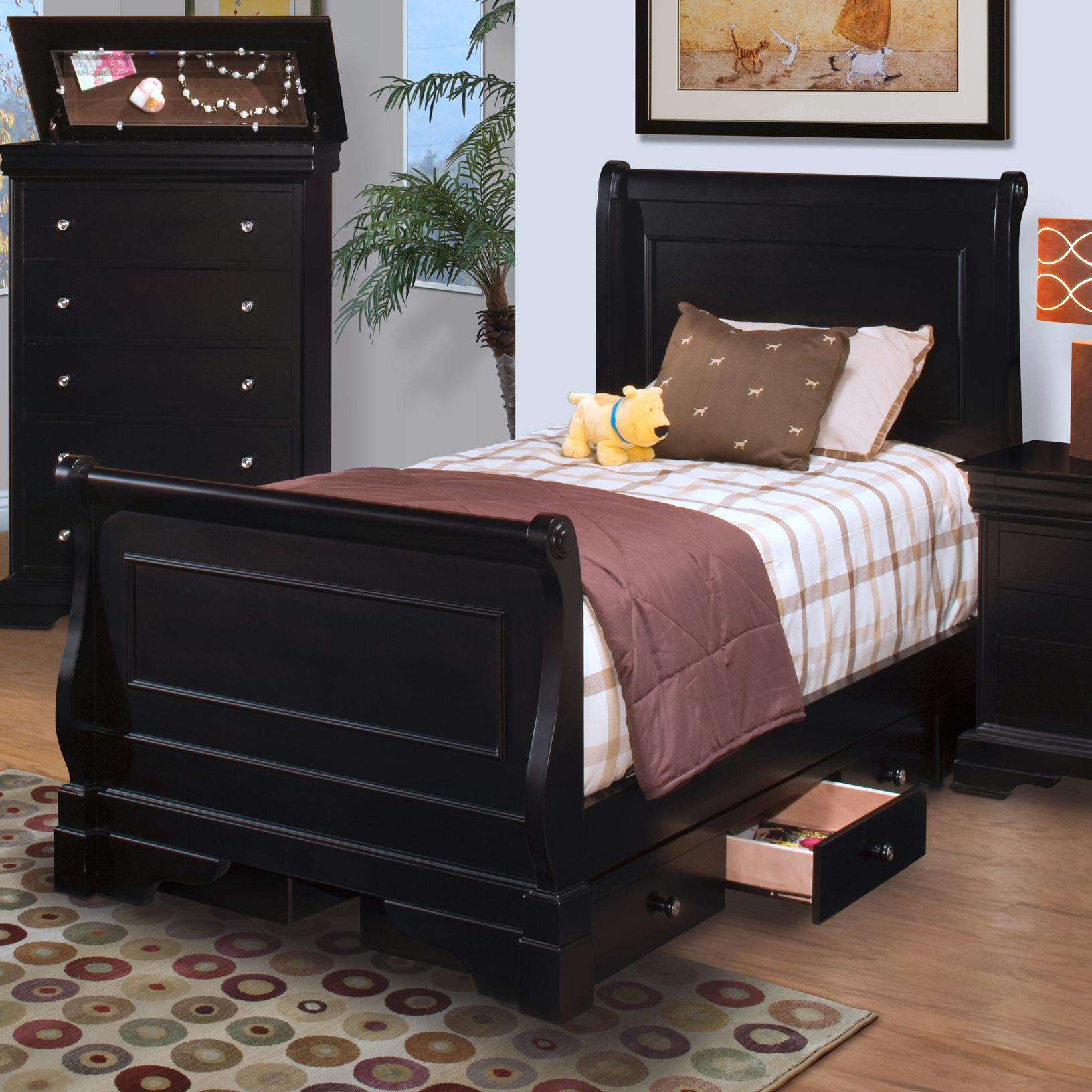 Belle rose sleigh bed shop for affordable home furniture for Affordable furniture alexandria louisiana