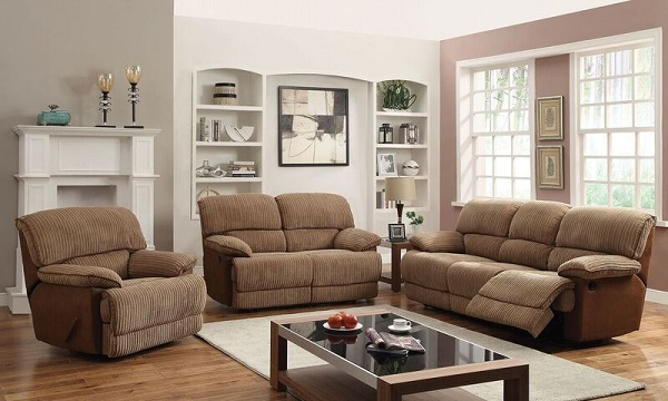 Malvern Light Brown Ultra Plush Fabric Sofa Shop For