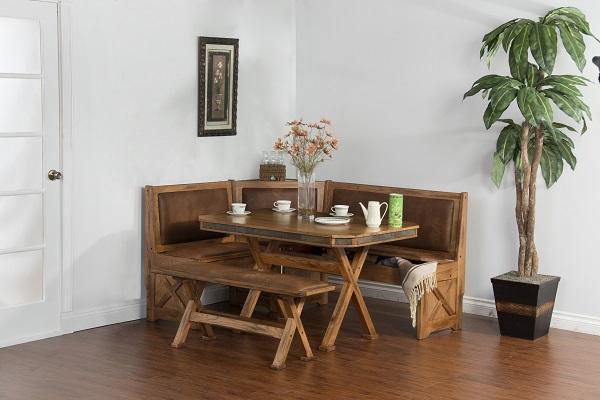 Sedona Breakfast Nook Set W Side Bench