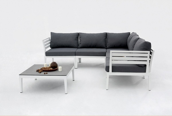 Dark Grey Sectional Sofa Set