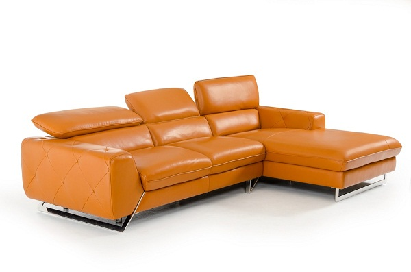 Marcus Orange Sectional Sofa Muuduu Furniture Outlet Price