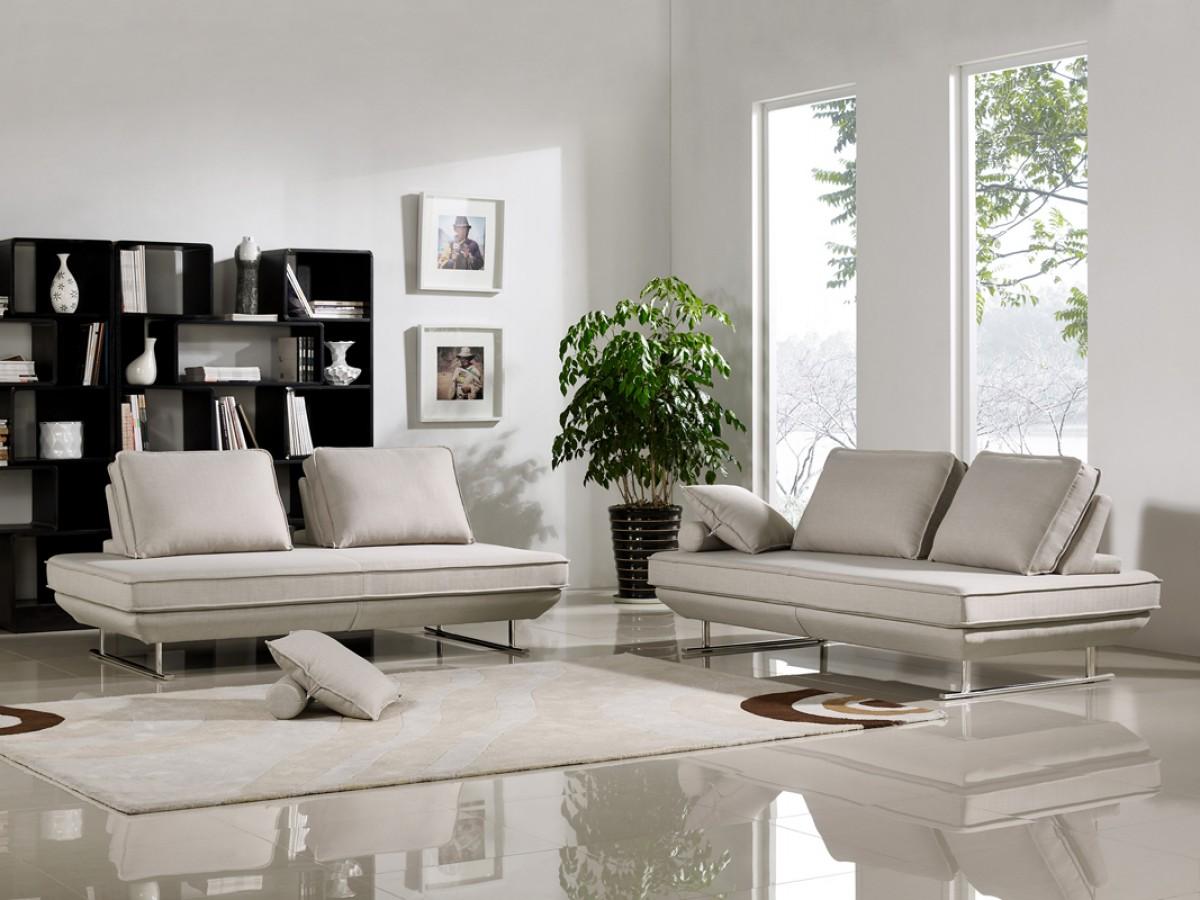Grey Fabric Sofa Bed Set