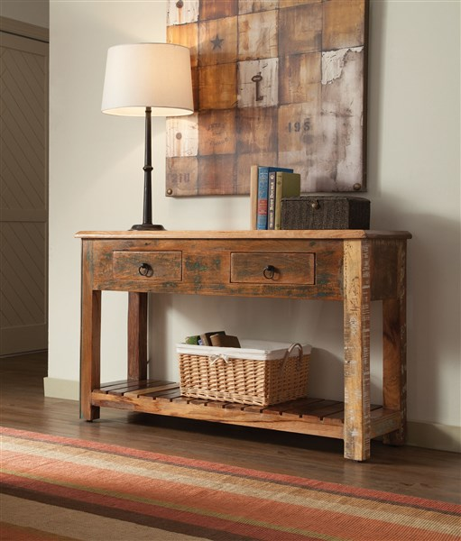 Accent Cabinets Rustic Console Table
