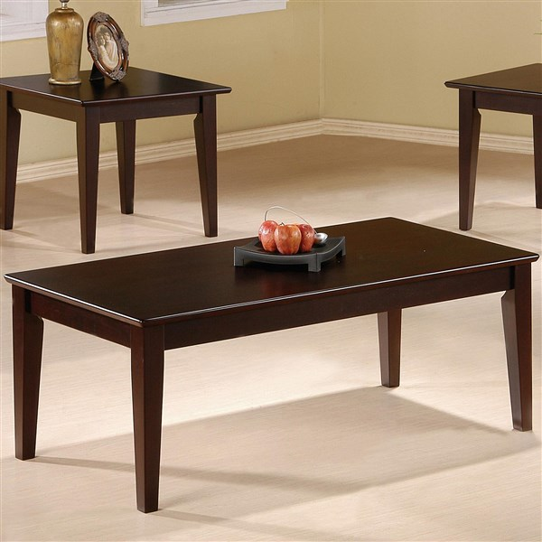 Cappuccino Coffee Table Set.Cappuccino 3 Pieces Coffee Table Set With Tapered Legs