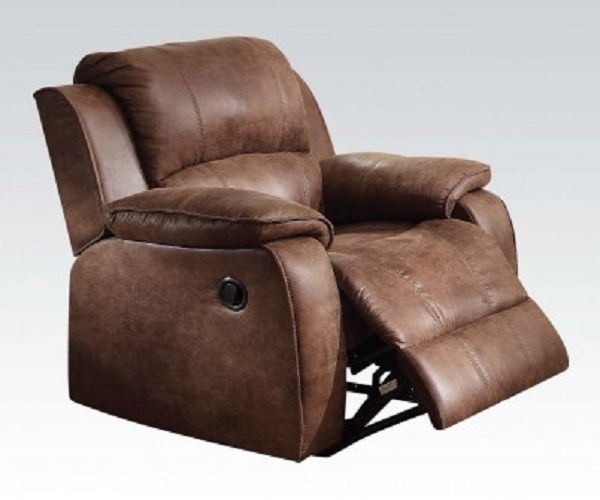 sc 1 st  Muuduu Furniture & Zanthe II 2-Tone Brown Padded Suede Recliner Chair islam-shia.org