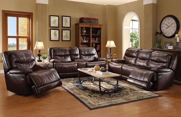 Cerviel Burgundy Motion Sofa Set - Shop for Affordable Home ...