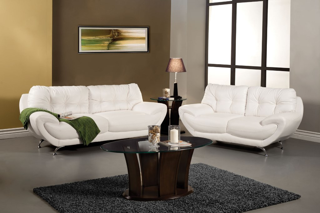 Volos White Leatherette Sofa Shop For Affordable Home Furniture Decor Outdoors And More