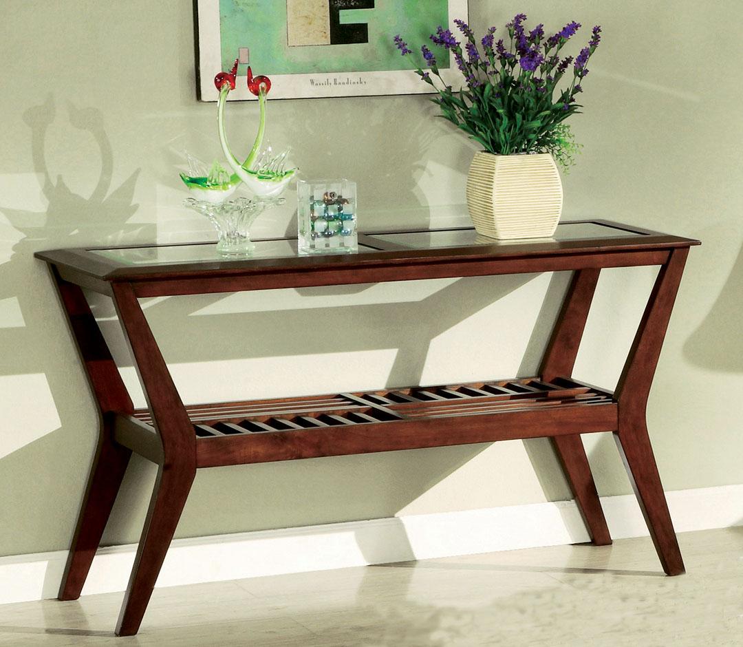 Virginia Beach Dark Cherry Sofa Table
