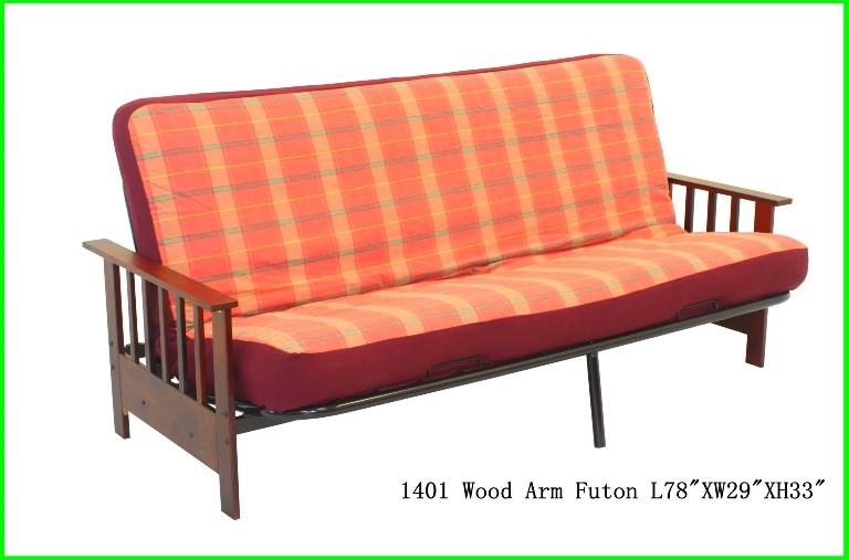 Kp11401 Wood Arm Futon