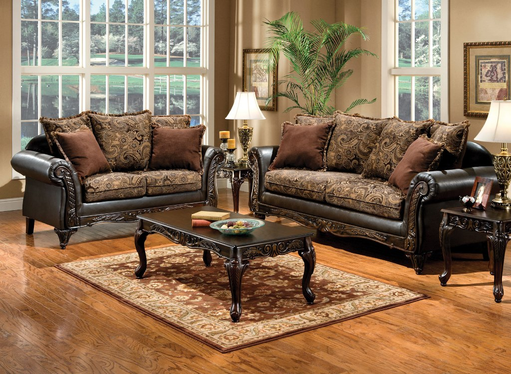 Rotherham Traditional Two Tone 2Pcs Sofa Set