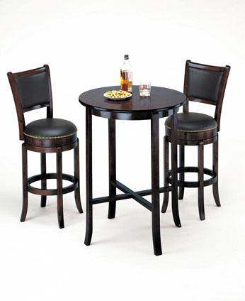 Chelsea 3pcs Espresso Bar Table Set