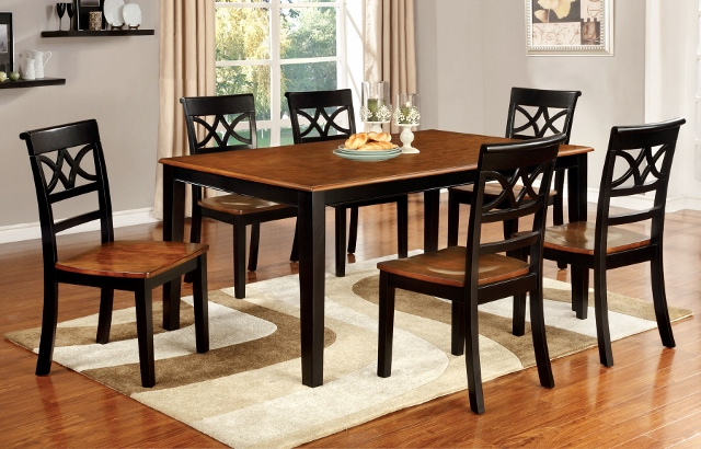 Torrington Transitional Black Cherry Wood Dining Set